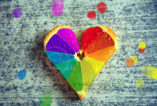 rainbow orange II by Orwald
