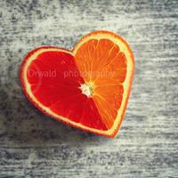 heart shaped orange