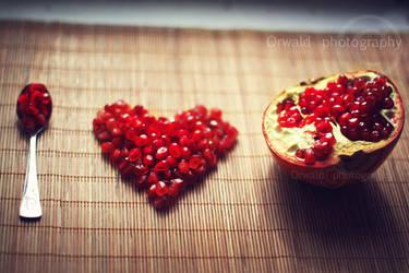 I love pomegranates by Orwald