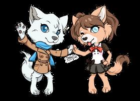 Chibi Yukii and Kimiko