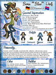 Reference sheet: Blue the Wolf