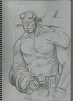 hellboy sketch by renatothally