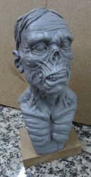 Zombie bust resin by renatothally