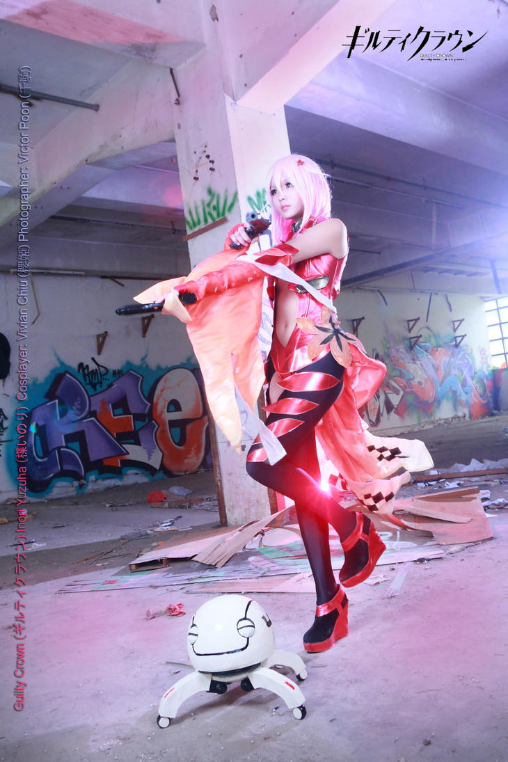 Guilty Crown Inori Yuzuriha Cosplay 15 guns fight by multipack223