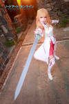 Asuna with sword in Sword Art Online