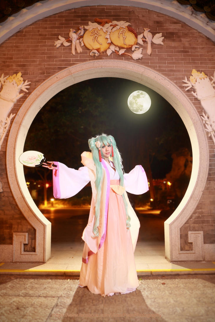 Vocaloid Hatsune Miku mid-Autumn Moon by multipack223