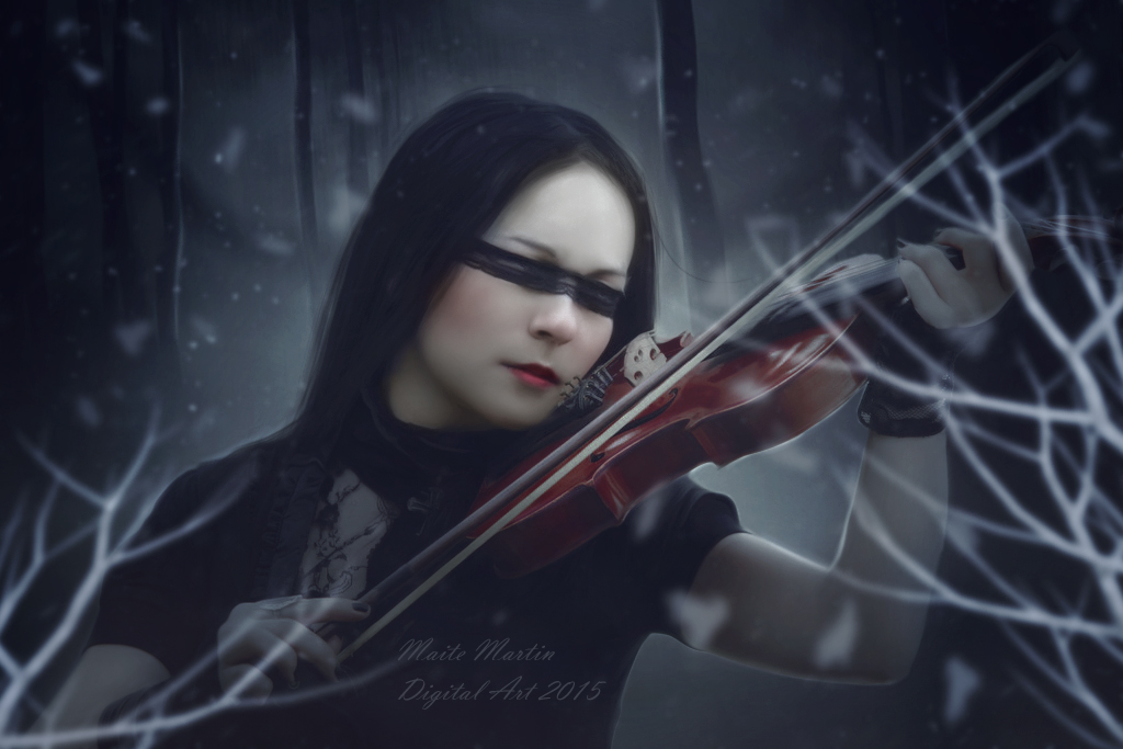 Violinist Winter by Neitin