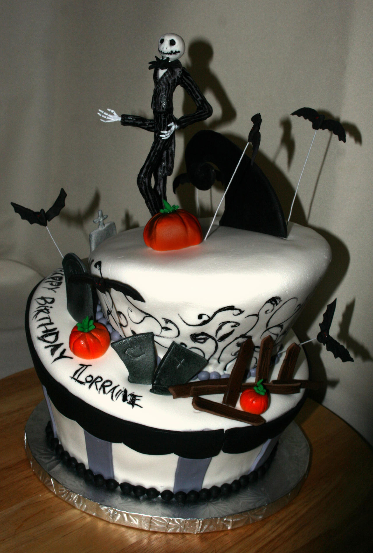 Jack Skellington Cake By Meaikoh On Deviantart