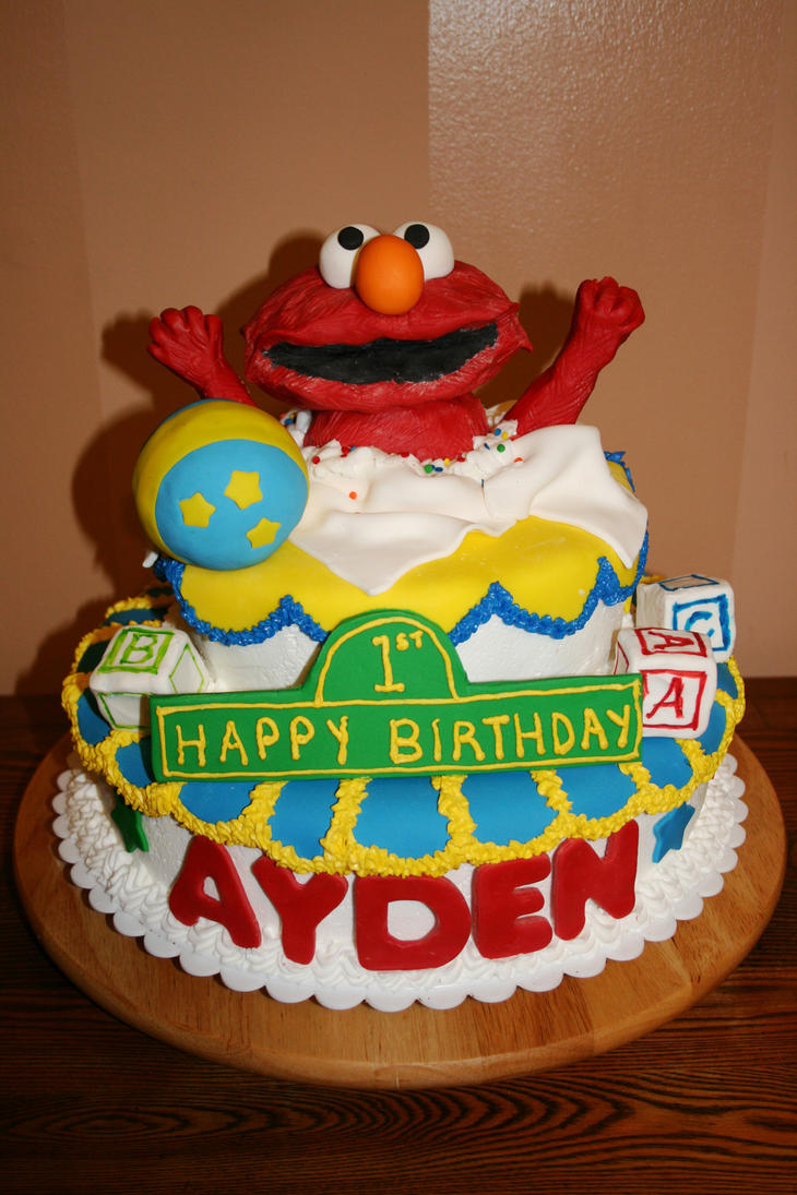 Elmo cake by meaikoh on DeviantArt