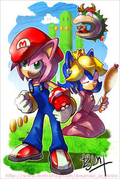 Super Amy Bros and Princess Sonic xD