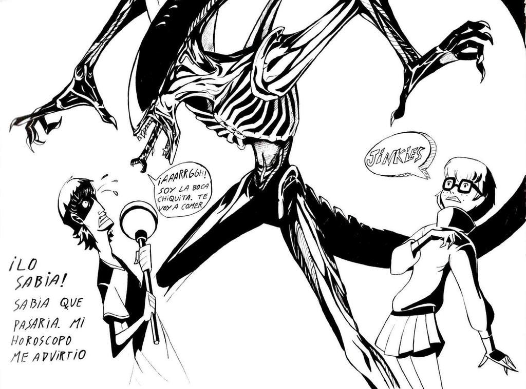 el franco vs alien by elfranco