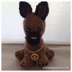 Amigurumi Crochet German Shepherd