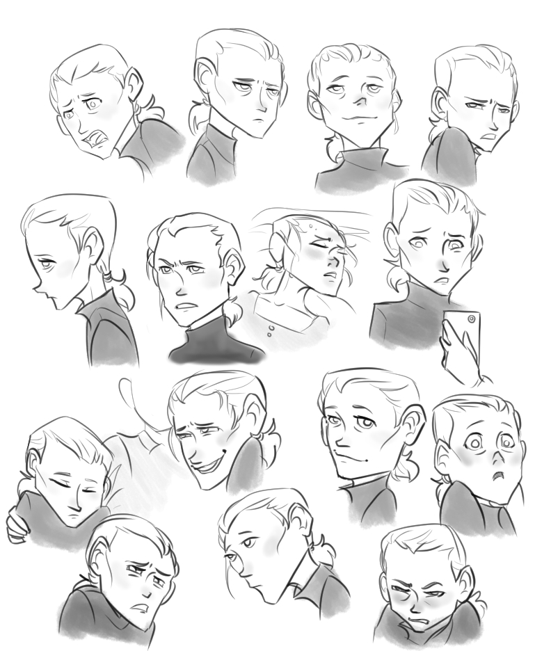 Maddy Expression Sheet by Jamocha101