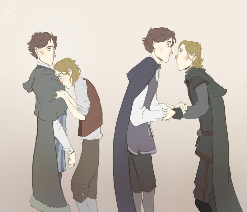 Hamlet And Horatio Doodles by Jamocha101