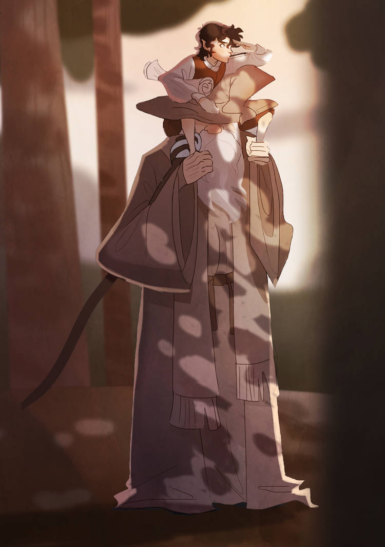 Gandalf And Young Frodo by Jamocha101