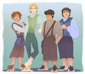 some hobbity characted designs by Jamocha101