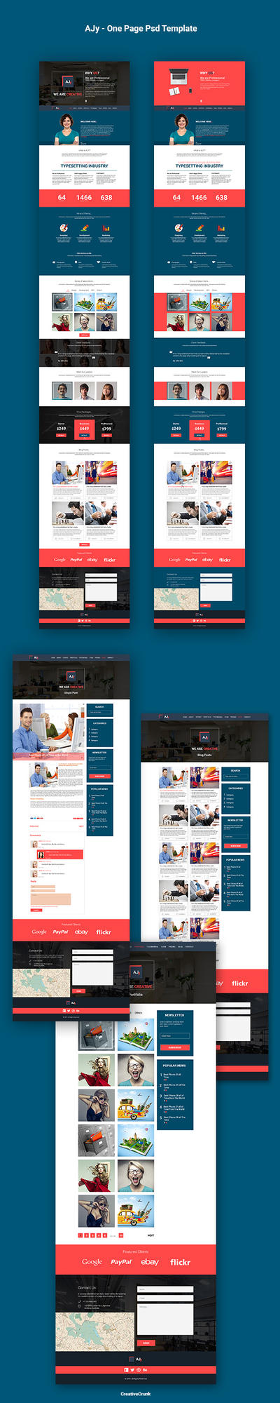 AJy One Page Psd Template by CreativeCrunk