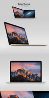 MacBook Retina Display Psd Mockup by CreativeCrunk