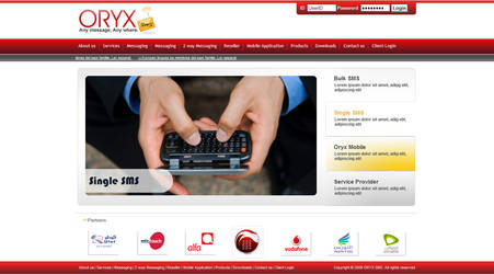 ORYX sms Website