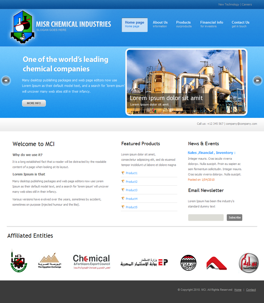 MCI Website Design by safialex83