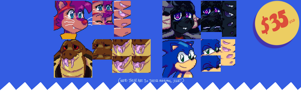 ANIMATED TALKING SPRITE COMMISSION by EvilSonic2