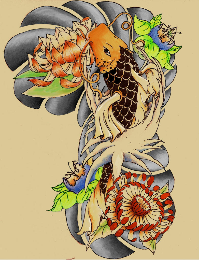 Koi fish tattoos sleeve designs and ideas quotes for Koi fish quotes