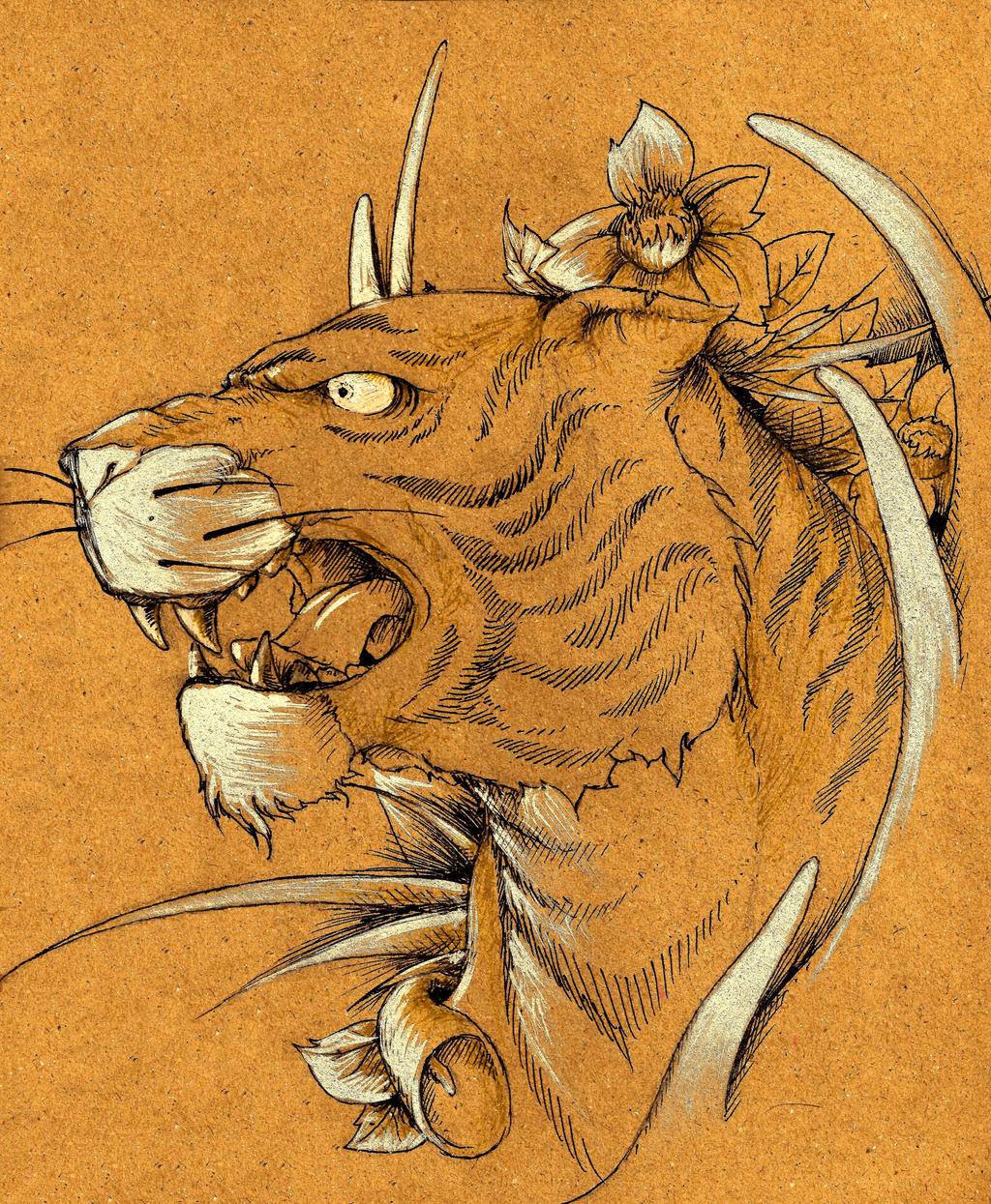 Traditional Japanese Tiger Art Traditional Japanese Tiger