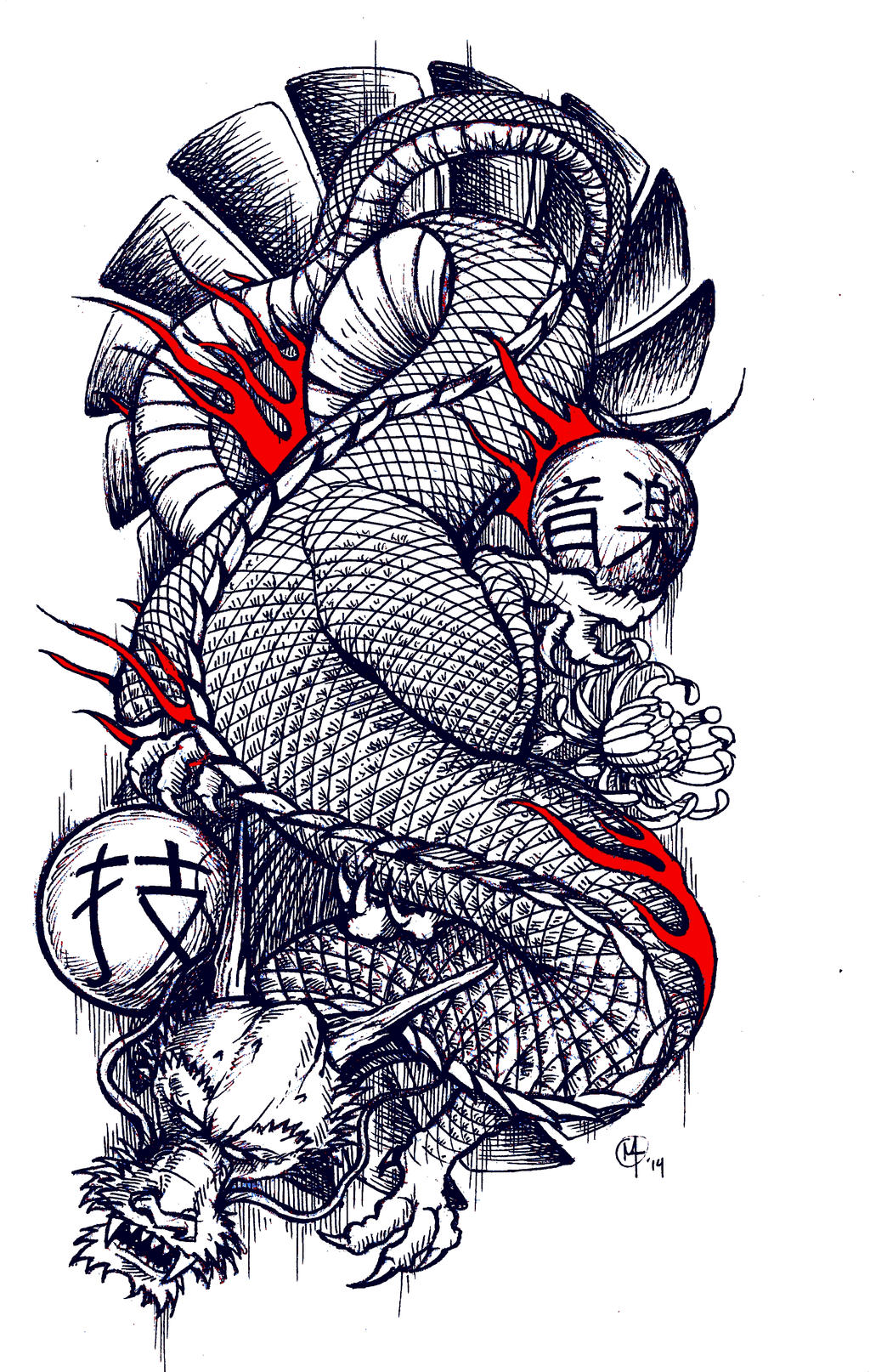 Traditional japanese dragon tattoo design by miketooch on for Japanese tattoo art