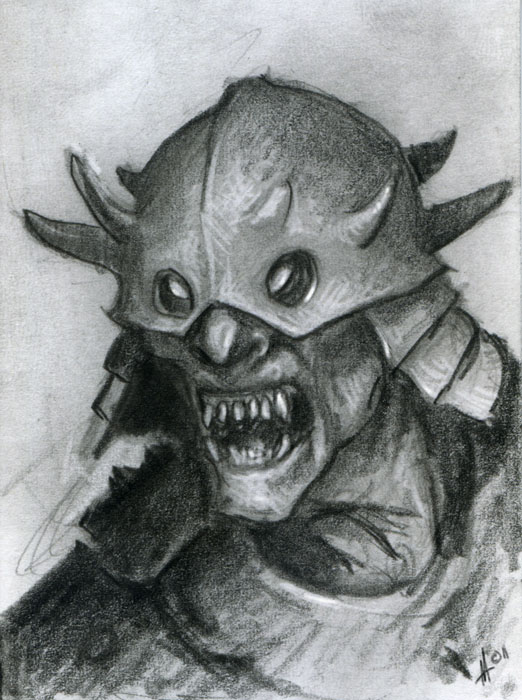 Orc Lord Of The Rings Sketch