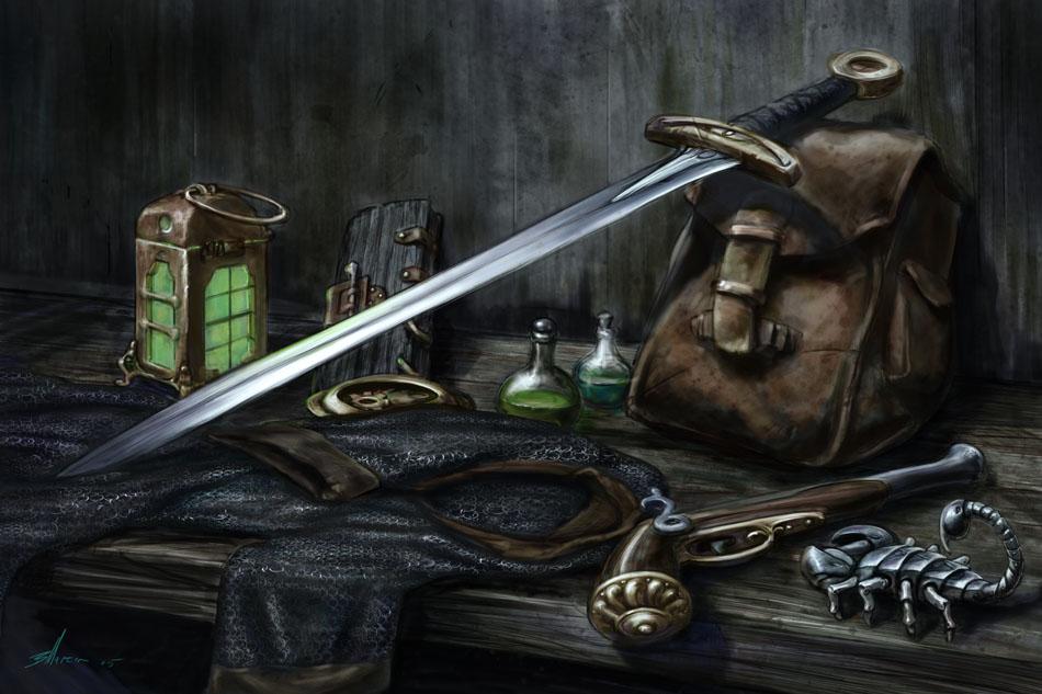 Image result for fantasy equipment art