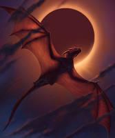 Smaugust 29 - Dragon in Flight - Dragon Eclipse II by BrittMartin
