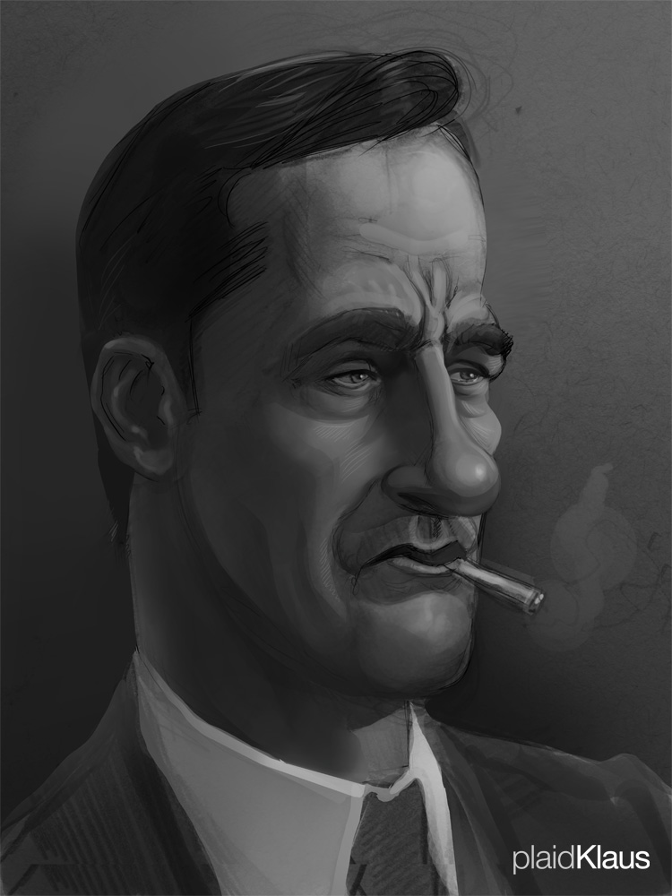 Mad Men: Caricature - Don Draper by plaidklaus
