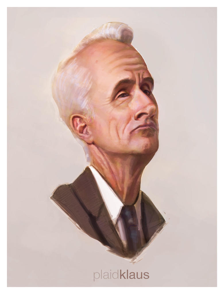 Mad Men Roger Sterling Painting by plaidklaus on