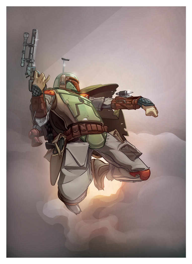 Boba Fett (COLORS) by plaidklaus