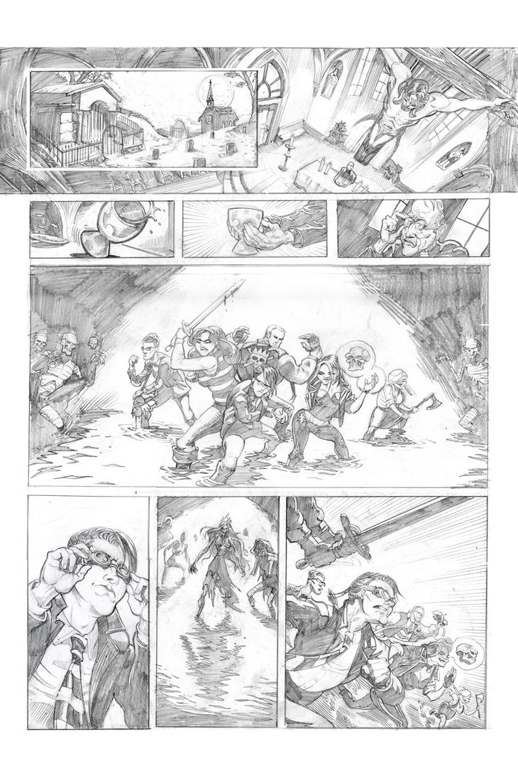 The Glimmer Society - Issue01 - Page 04 pencils by plaidklaus