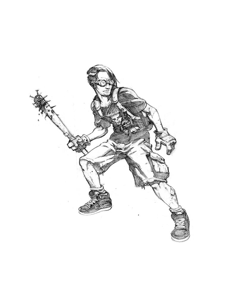 Max - Battle Gear - pencils by plaidklaus