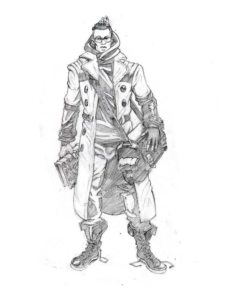 Glimmer Society - Concept Art: Ridgewood (Pencils) by plaidklaus