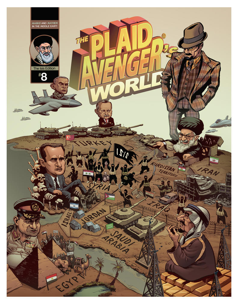 Plaid Avenger: Edition 08 - Cover by plaidklaus