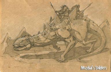 Concept Art: Creature and Warriors
