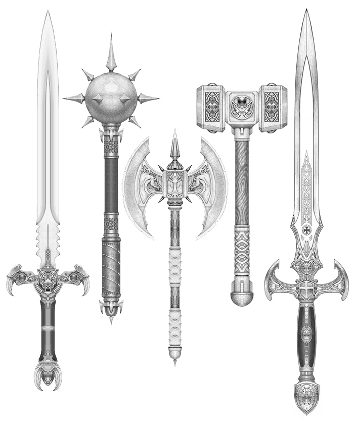 Fantasy Weapons by weston100 on DeviantArt