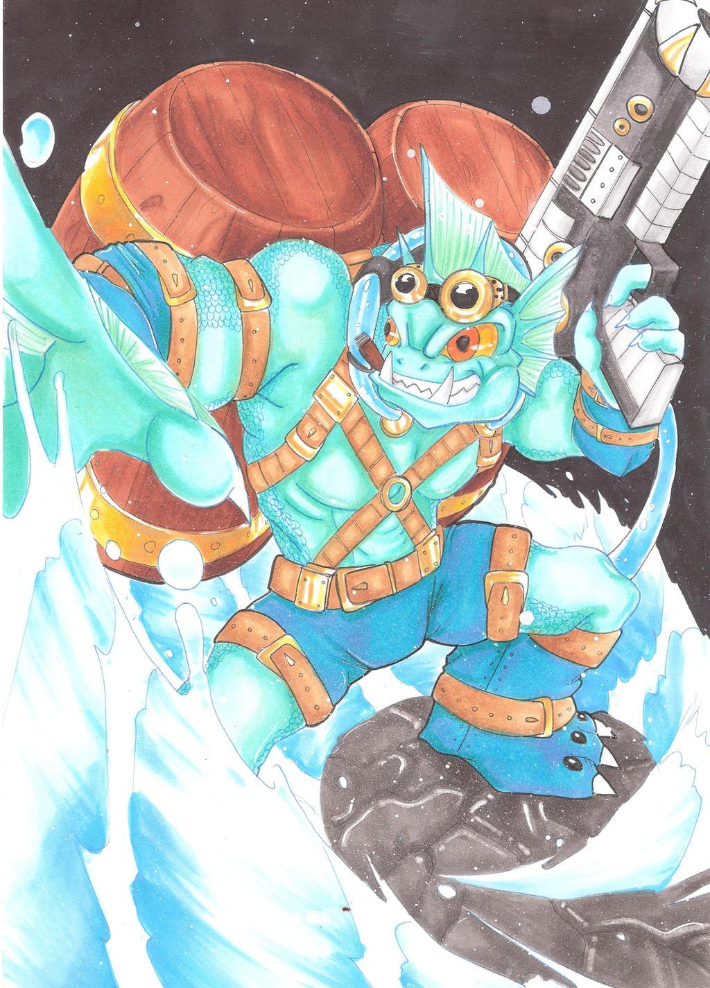 Skylanders Gill Grunt By Mad Project On Deviantart