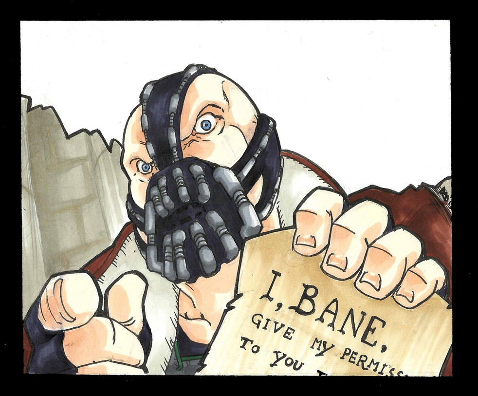 Speed Portrait: BANE meme blank by MAD-project