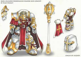 LOL arts: Dark Crusader Mordekaiser REWORK by MAD-project