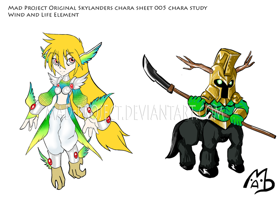 Force Character Design From Life Drawing Ebook : Skylanders original harpie e centaur chara sheet by mad