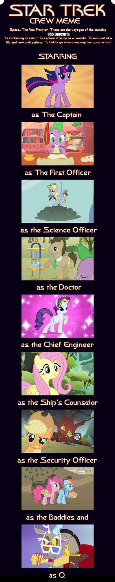 My Little Star Trek Crew Meme by SEGASister
