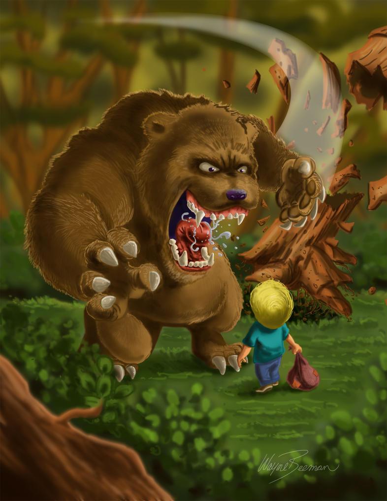 Scary Bear by waynebeeman on DeviantArt