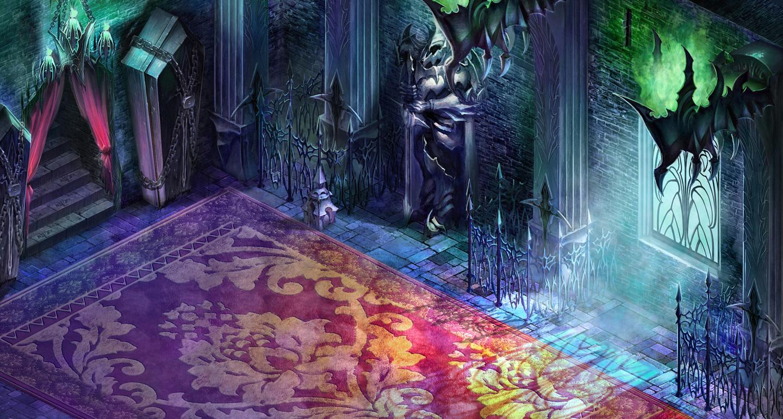 Dracula's Castle inner hall by puyoakira
