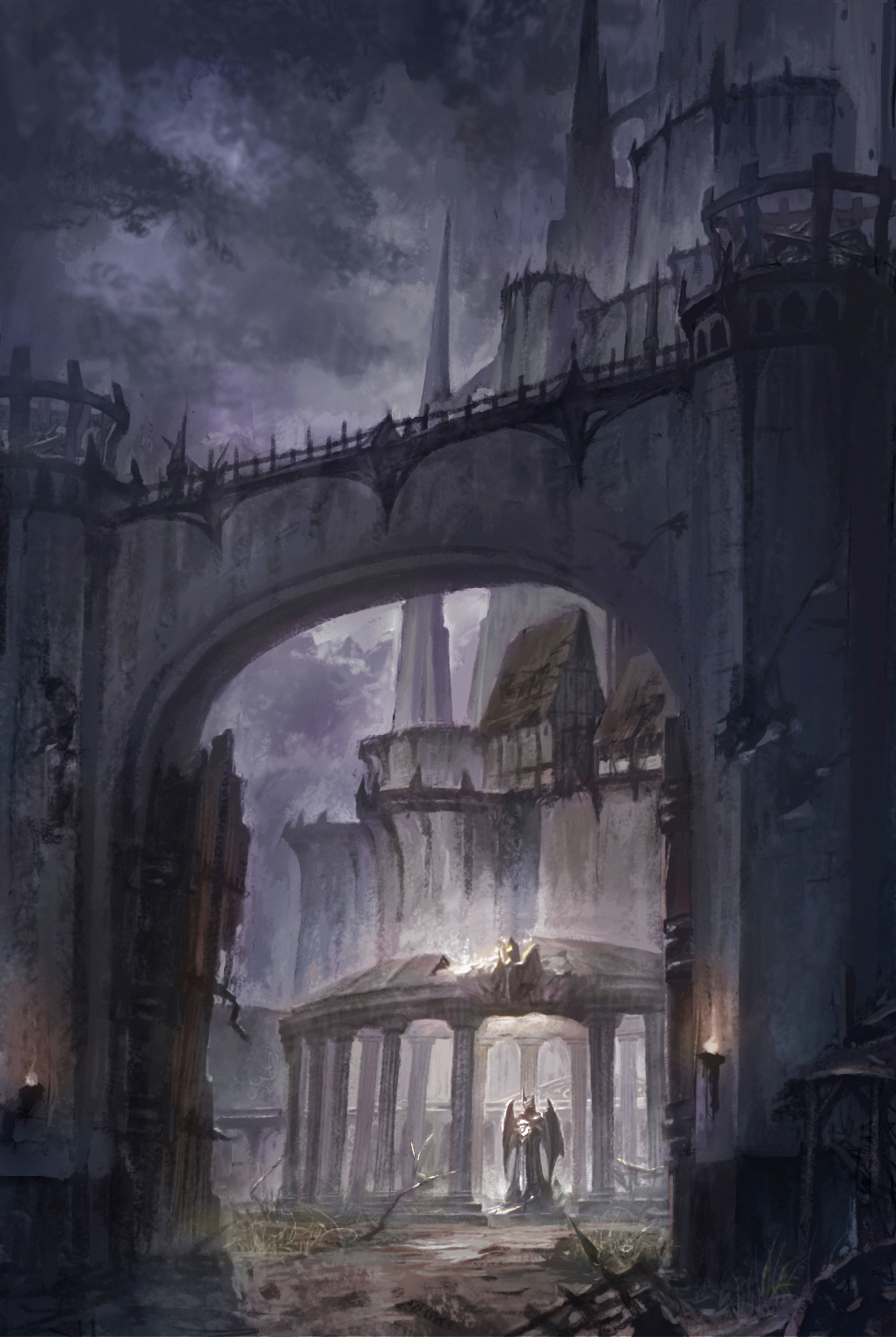 Demon's Castle Front Gate by puyoakira