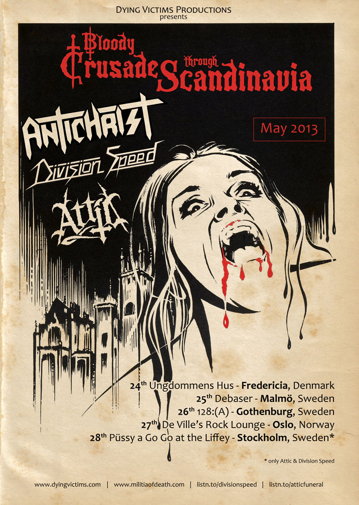 Bloody Crusade through Scandinavia 2013 by Skinperforator