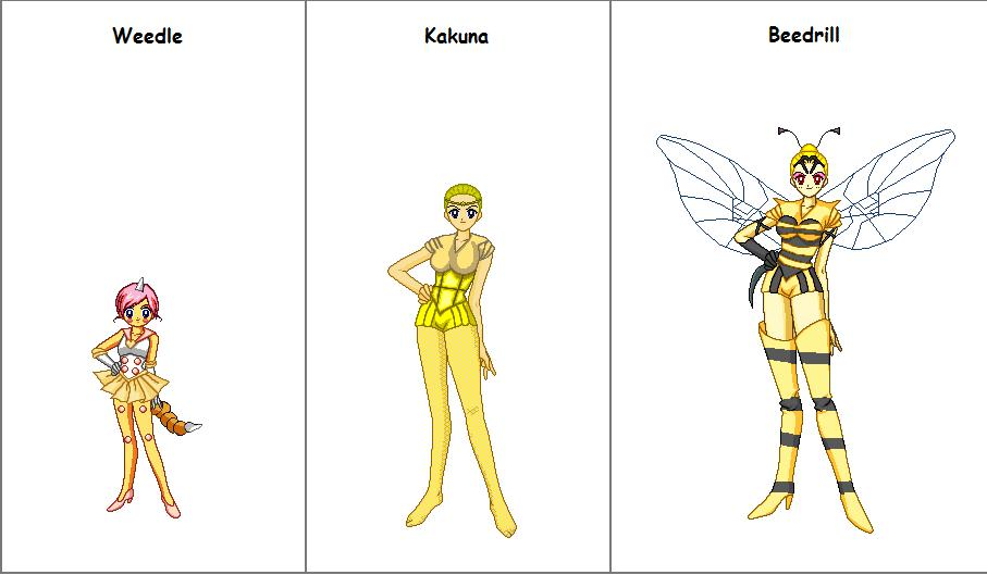 Weedle senshi line by PlanetXiN on DeviantArt
